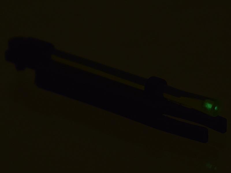 Мушка оптоволоконная+тритиевая 2в1 для дневной + ночной охоты RGL для ИЖ-27, МР-153, 155, 156, ТОЗ-34 и прочих с прицельной планкой шириной 5,5-8,5мм , диаметр 4,4мм, Зеленая