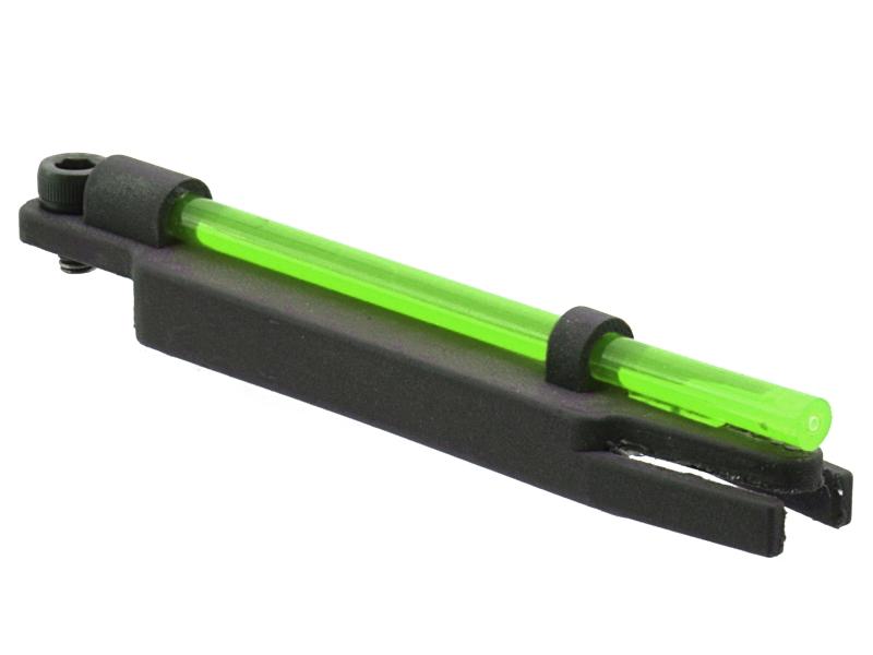 Мушка оптоволоконная+тритиевая 2в1 для дневной + ночной охоты RGL для ИЖ-27, МР-153, 155, 156, ТОЗ-34 и прочих с прицельной планкой шириной 6-8мм Зеленая