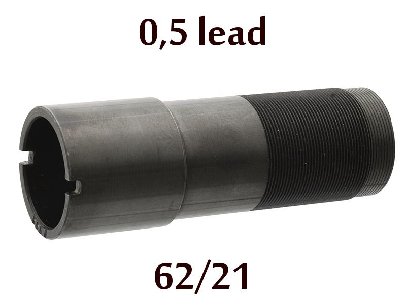 Дульная насадка (чок) 12 калибра на МР (ИЖ) 155, 153, 27 длина 62/21мм, сужение 0,5 lead - получок (M)