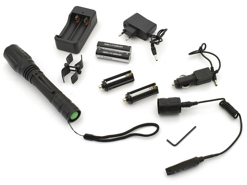 Фонарь подствольный на ствол ружья 12, 16 и 20 калибров с выносной кнопкой