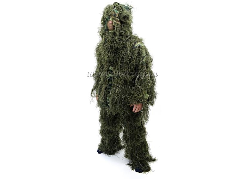 Костюм маскировочный Ghillie Suit (Леший, Кикимора) ЗЕЛЕНОГО цвета