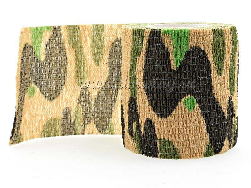 Камуфляжная (маскировочная) эластичная лента многоразового использования Chameleon Wetland Camo