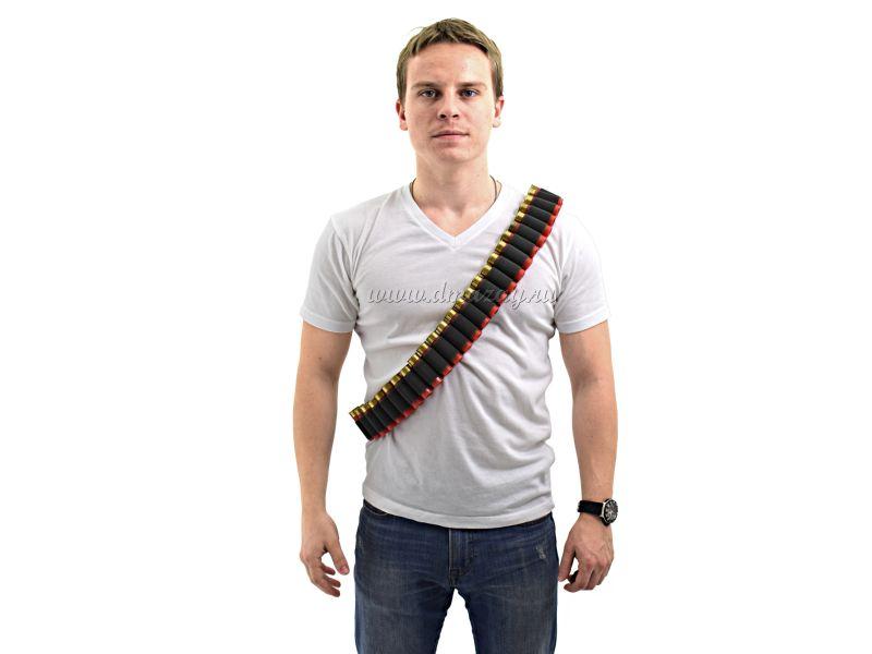 Патронташ универсальный (бандольера+поясной) на 27 патронов 12, 16 и 20 калибров, цвет Черный