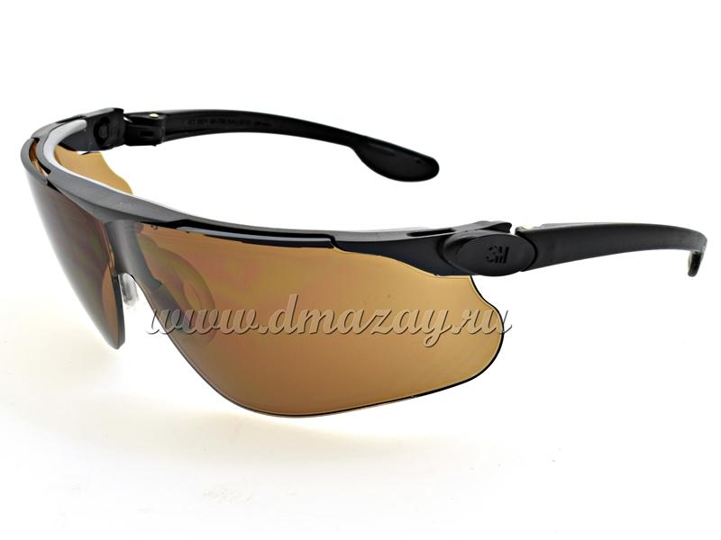 Очки стрелковые с регулируемыми по наклону съемными дужками Peltor MAXIM Ballistic 13297-00000М Бронза