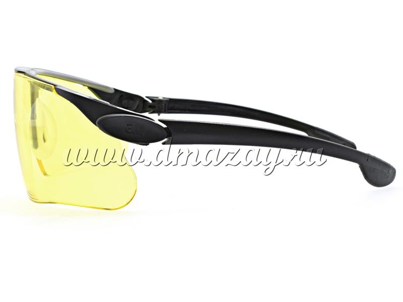 Очки стрелковые с регулируемыми по наклону съемными дужками Peltor MAXIM Ballistic 13299-00000М Желтые