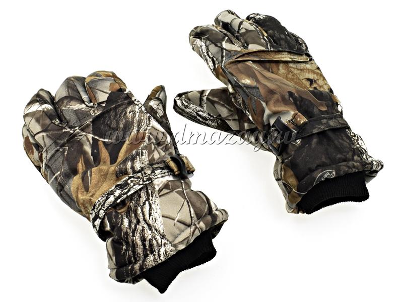 Перчатки зимние Hunter с флисовой подкладкой для стрельбы размер L, XL, цвет ЛЕС