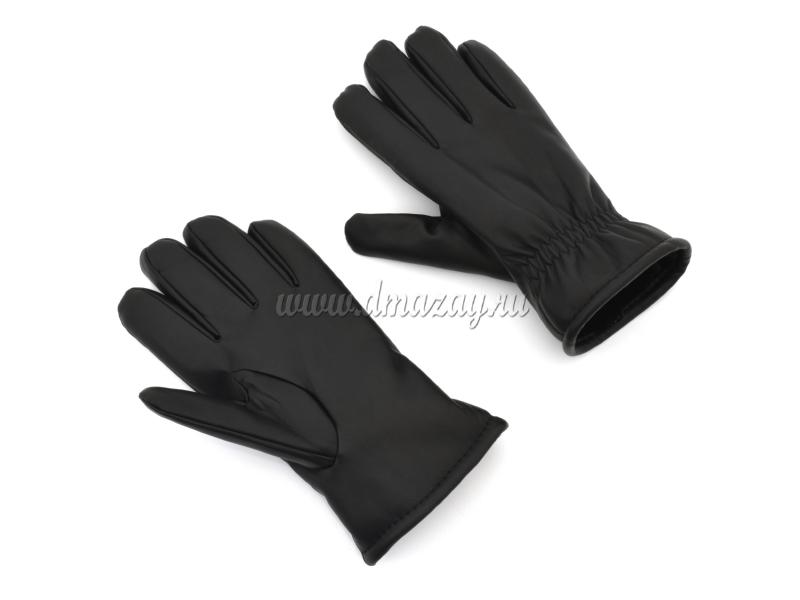 перчатки из искусстенной кожи с мехом