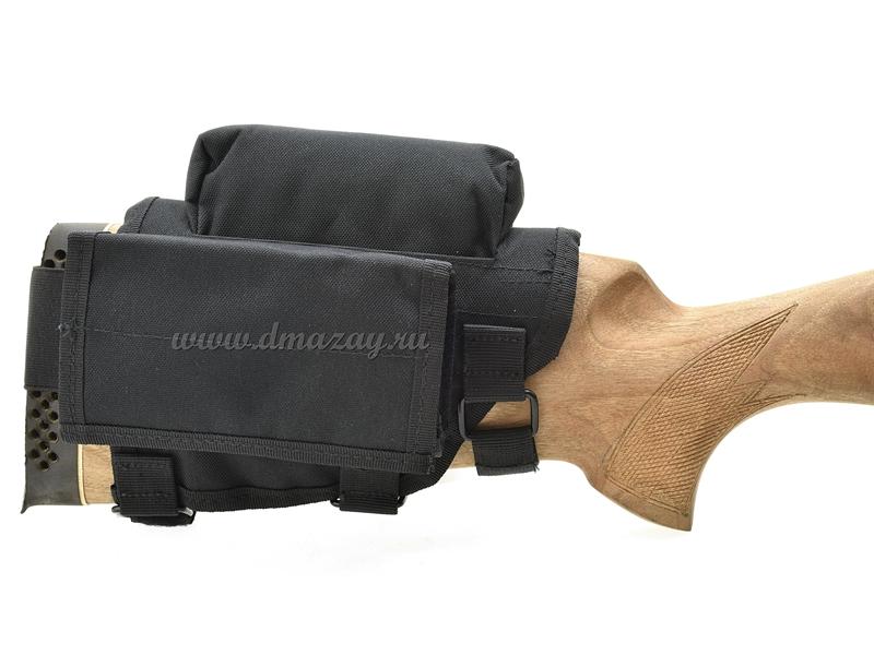 Универсальный подщечник на ружье
