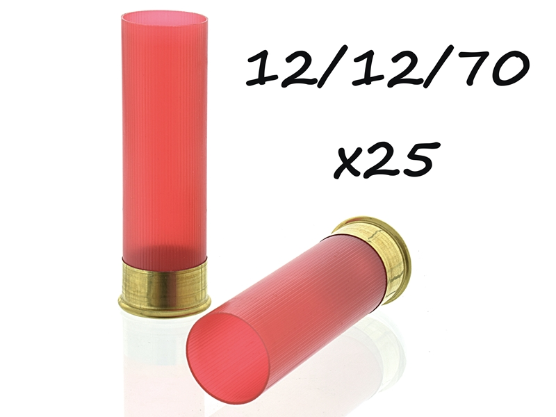 гильза cheddite 12 калибра красно-прозрачная