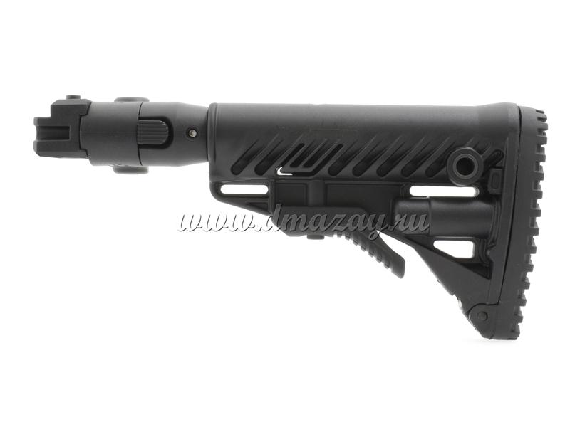 Складной телескопический приклад Fab-Defense M4 AKP на АК, АК47, АКМ, АК74, карабин Сайга, ВПО (Вепрь) и т.п.