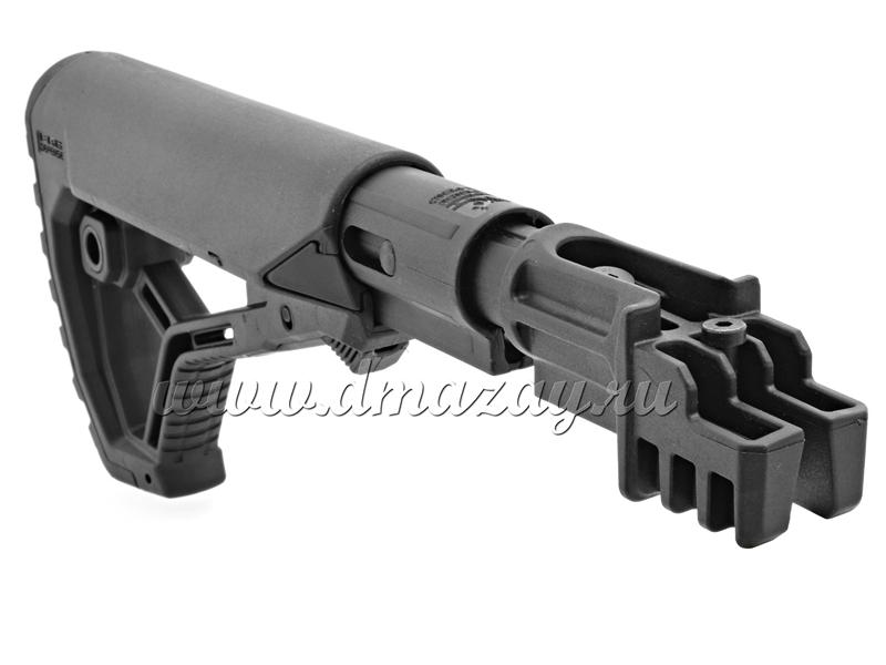 Приклад телескопический с амортизатором (буфером) отдачи GL-CORE FAB Defense CSBT-K47 FK для АК, Сайга, Вепрь с нескладными прикладами