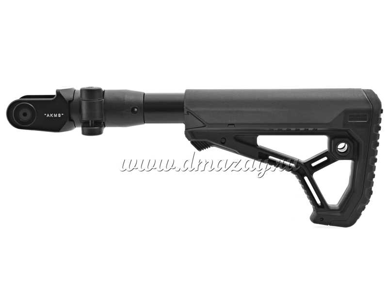 Складной телескопический приклад GL-CORE Fab-Defense CM4-AKMS P на АКМС