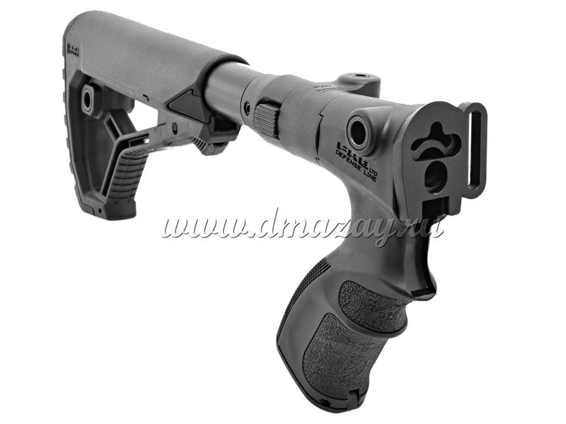 Складной телескопический приклад GL-CORE Fab Defense для МР-135, МР-155 CAGRF 870 FK + переходник ТТ 12004