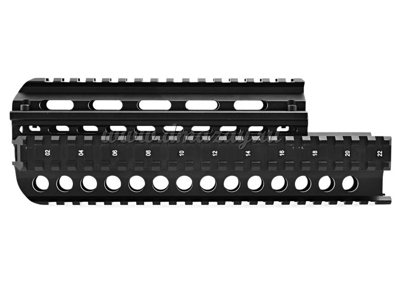 Цевье тактическое с четырьмя планками Вивера (Weawer) на охотничий карабин Сайга 7.62х39 MNT-HGSG39