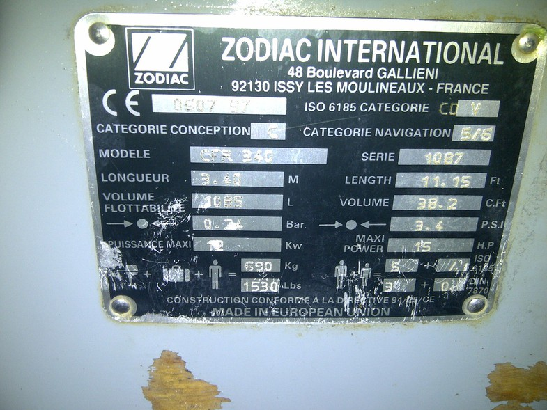 ZODIAC International CFR-340
