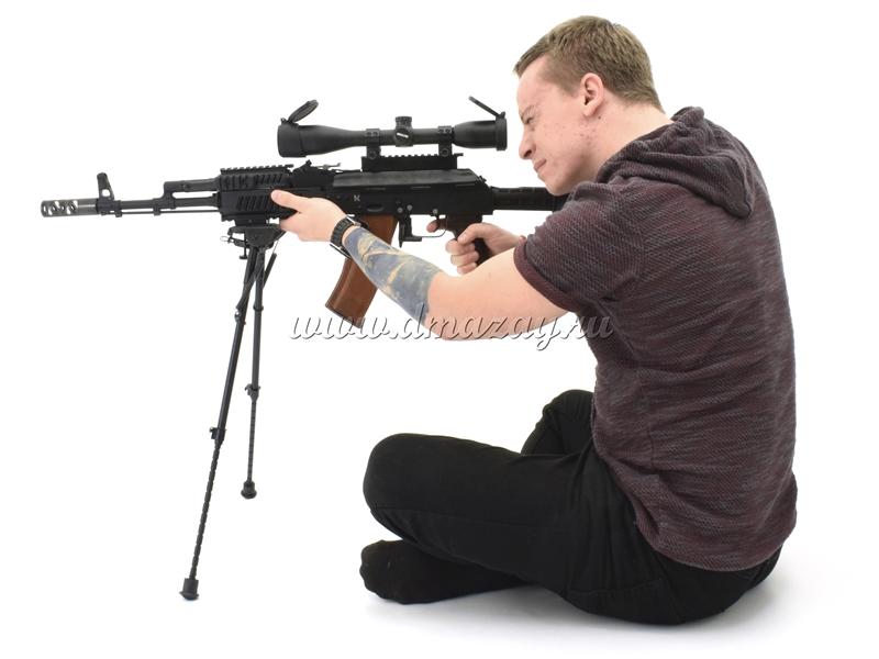 телескопические сошки для стрельбы сидя