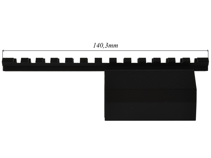 Планка Вивера (weaver) на горизонталку ИЖ-43, ТОЗ-66, ИЖ-54, ИЖ-58 АЛЕКАТ 43-58 «Weaver»