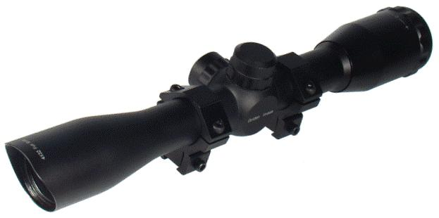 "Оптический прицел LEAPERS (Липерс) SCP-U432FD UTG 1"" 4X32 Full Size Tactical Mil-dot Scope with Airgun/.22 ""ласточкин хвост"" Rings, Pre-adj @ 35 Yds"