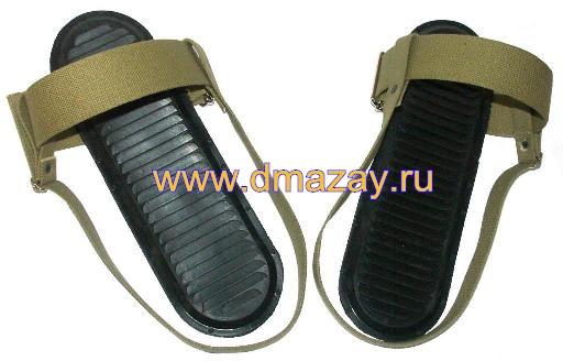 4499f9199748 Брезентовые крепления с резиновыми накладками МАЯК для охотничьих лыж  (пятка- носок) в комплекте