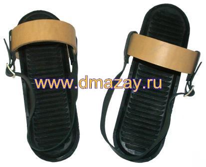 99f0528677a9 Кожаные крепления с резиновыми накладками для охотничьих лыж (пятка- носок)  в комплекте