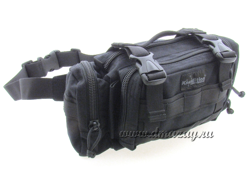 Сумка поясная Kiwidition PAIHAMU (Black) – DuPont Poly Cordura, черного цвета