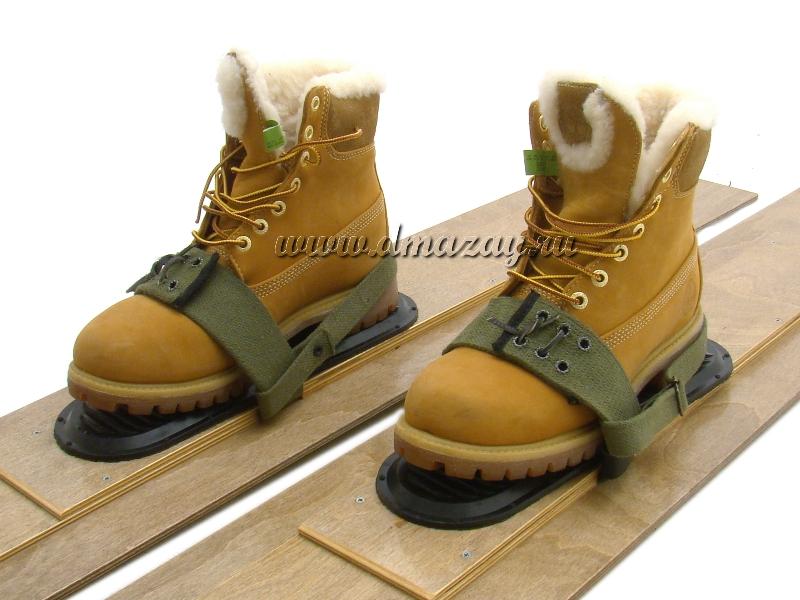 Брезентовые крепления с резиновыми накладками для охотничьих лыж  универсальные LineHunt d61fdba861d