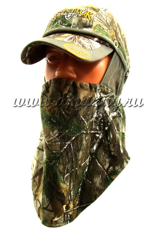 Бейсболка – маска для лица 2 в 1 маскировочная SCENT-LOK REALTREE XTRA FULL SEASEON арт.3592-056