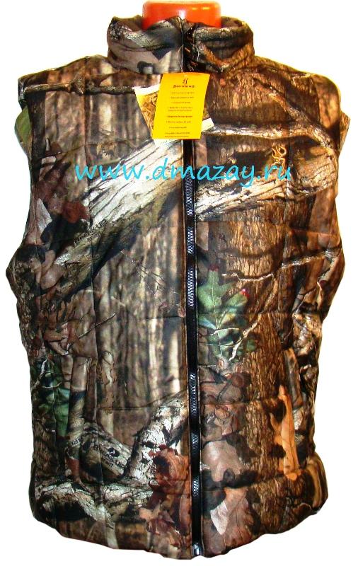 13eff754104a Утепленный жилет (безрукавка) для охоты и рыбалки Browning цвет Break-UP  Infinity (
