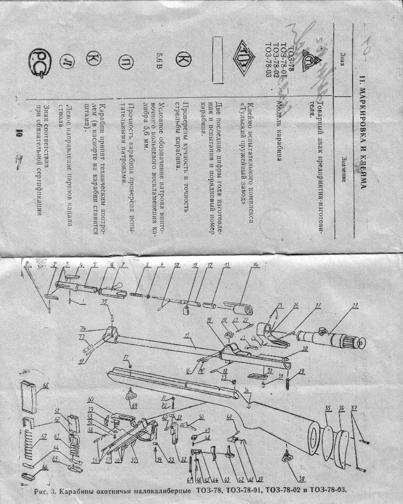 Руководство По Експлуатации Карабина Ко-44