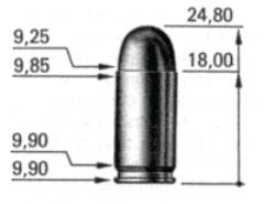 макет патрона 9х18