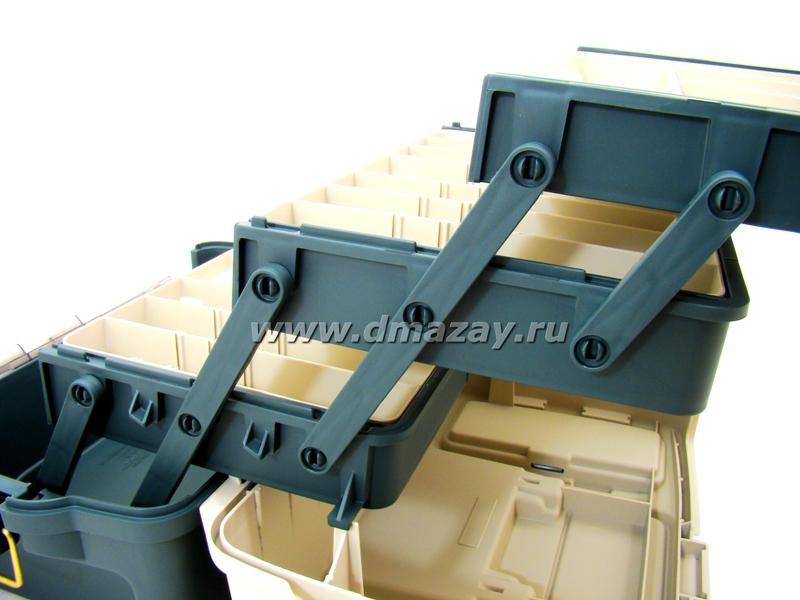 Рыболовный ящик для хранения снастей и приманок PLANO (Плано) HYBRID HIP TRAY BOX 7233-00
