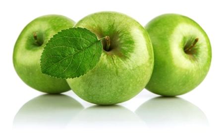 зеленые яблоки декорация