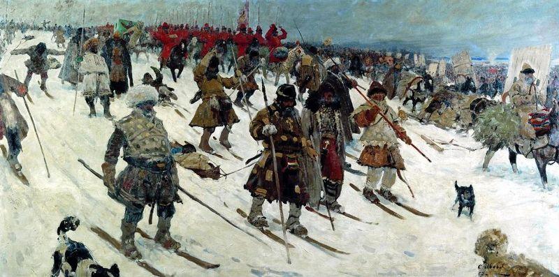 С. В. Иванов. «Поход Русского войска, XVI век» (1903).