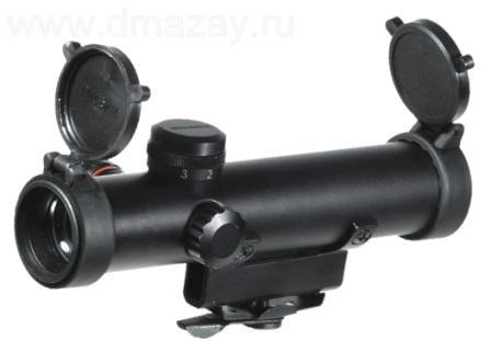 Оптический прицел LEAPERS (Липерс) SCP-420MRG-A GOLDEN IMAGE 4X20 Combat Style Model 15 Illuminated Mil-dot Scope with BDC (Old Stile Carry Handle Mount)