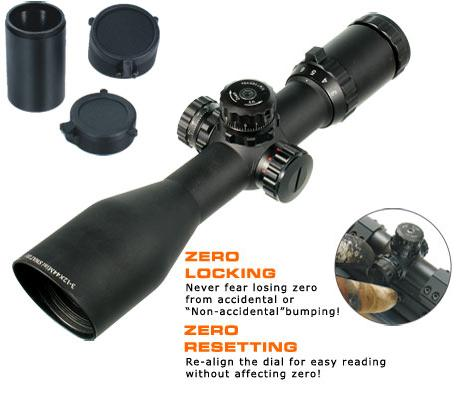 Оптический прицел Leapers (Липерс) SCP3-M3124MDL2-A AccuShot 30mm SWAT 3-12X44 Compact Mil-dot RGB Scope, Preadjusted@ 35 Yds