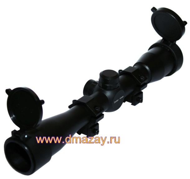 "Оптический прицел LEAPERS (Липерс) SCP-432FD GOLDEN IMAGE 4X32 TS Full Size Mil-dot Scope with Airgun/.22 ""ласточкин хвост"" Rings, Pre-adj @ 35 Yds"