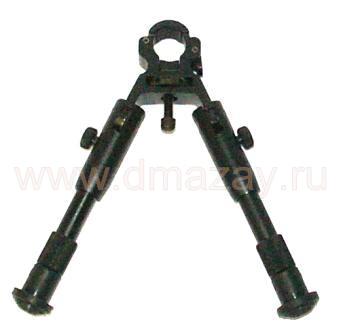 Сошки для оружия на ствол регулируемые по высоте(складные) Leapers (ЛИПЕРС) TL-BP18S Pistol/ Competition Profile Fixed Height Clamp-on Shooter's Bipod