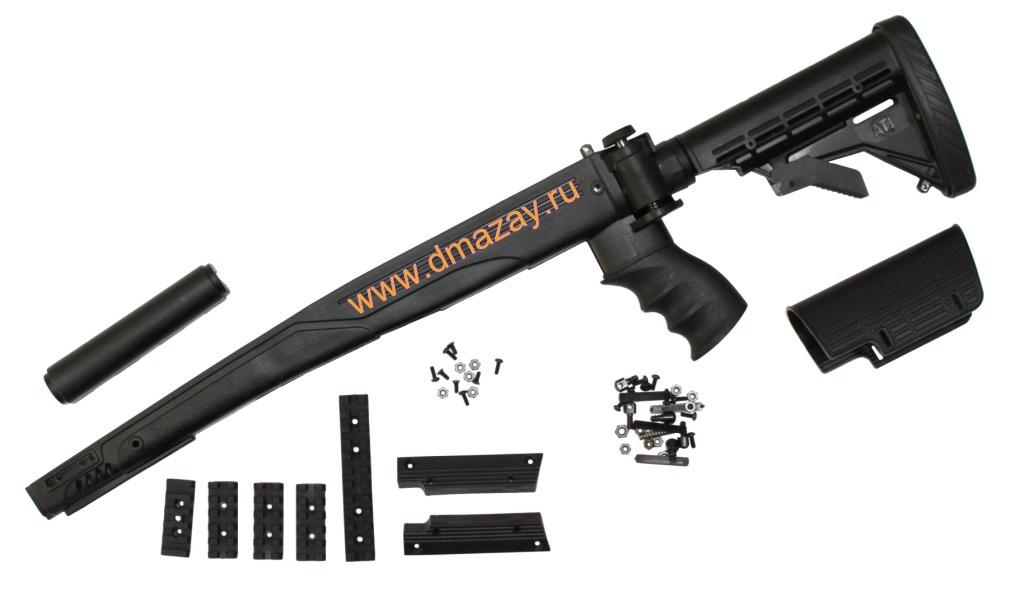 Пластиковая ложа со складным регулируемым по длине прикладом для охотничьего карабина СКС (SKS) ADVANCED TECHNOLOGY