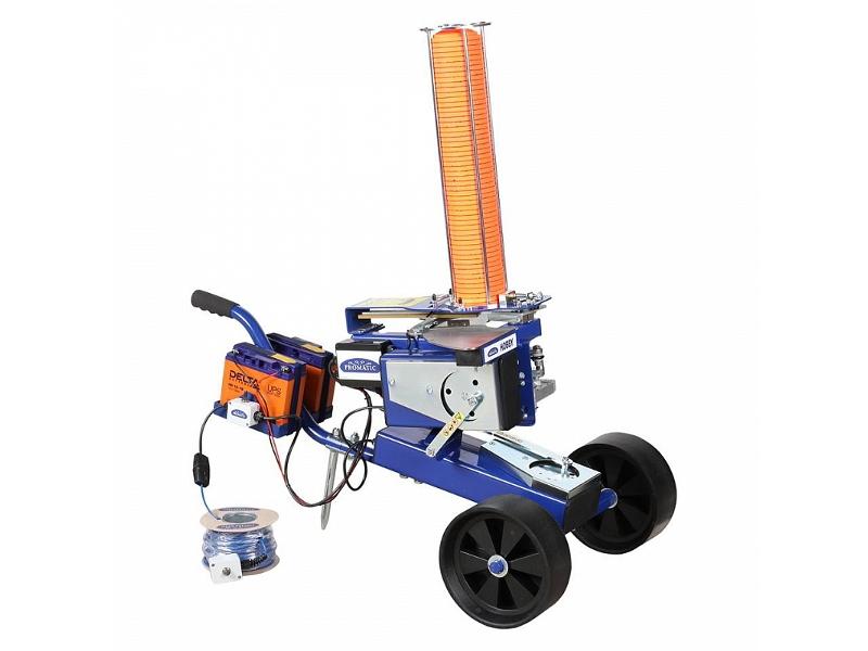 Метательная машинка электрическая с тележкой и базой непредсказуемого запуска PROMATIC HOBBY WOBBLE