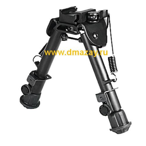 Сошки тактические быстросъемные регулируемые на антабку и планку с вращающимся основанием Weawer (Вивер) LEAPERS (Липерс)TL-BP78Q UTG Tactical OP Bipod - SWAT/Combat Profile Adjustable Height