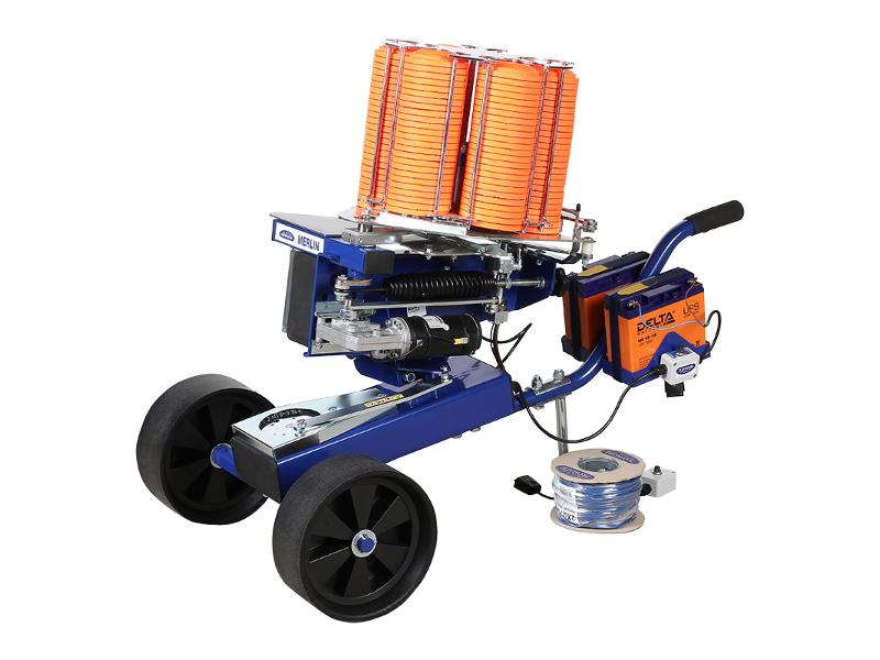 Метательная машинка электрическая с тележкой и базой непредсказуемого запуска PROMATIC MERLIN WOBBLE