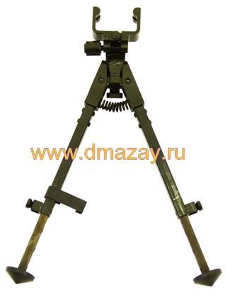 Сошки для оружия регулируемые по высоте (телескопические, складные) к охотничьему карабину Тигр (СВД) на ствольную коробку Продиз АСД-С101М Снайпер модернизированные